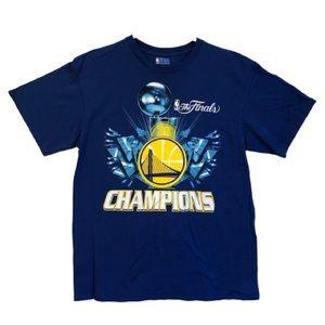 NBA Warriors 2015 Champions Blue T-Shirt
